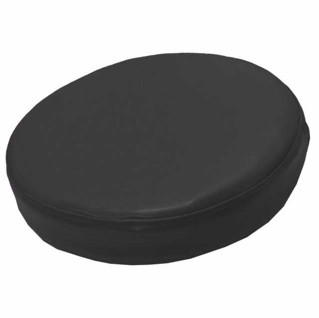 PL13r Grey Water Proof Outdoor Box Round Shape Cushion Cover Sofa Seat Case