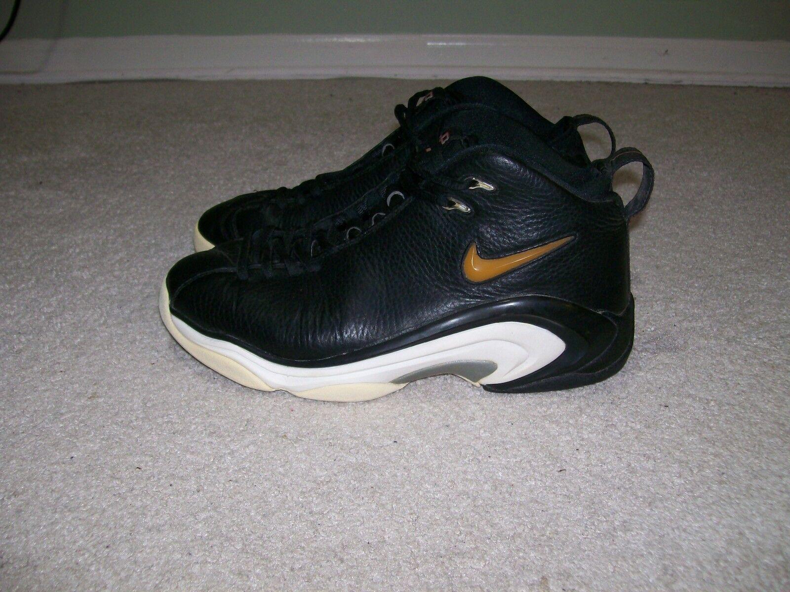 1998 Og Sz 11 Nike Air Pippen II 2 Brot Schwarz Weiß 830055-061 More Uptempo 1