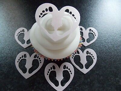 12 Precortada Rosas Comestible Oblea//Arroz Papel Pastel//Cupcake Toppers