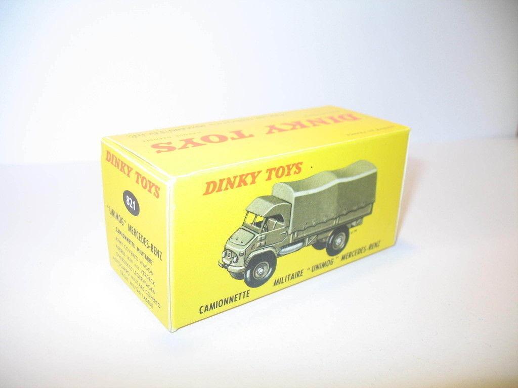 N38, box mercedes unimog 821 repro DINKY TOYS military
