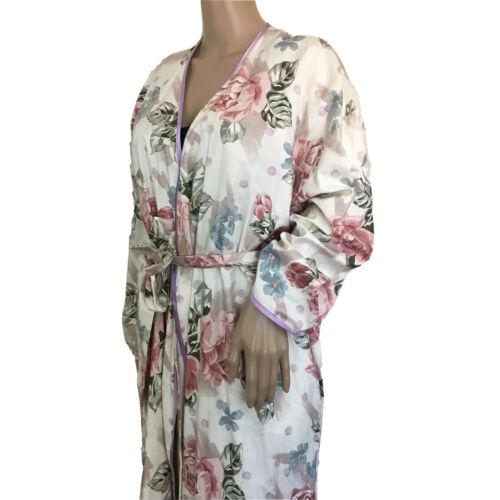 Vintage MARY MCFADDEN Floral Kimono Robe Size S