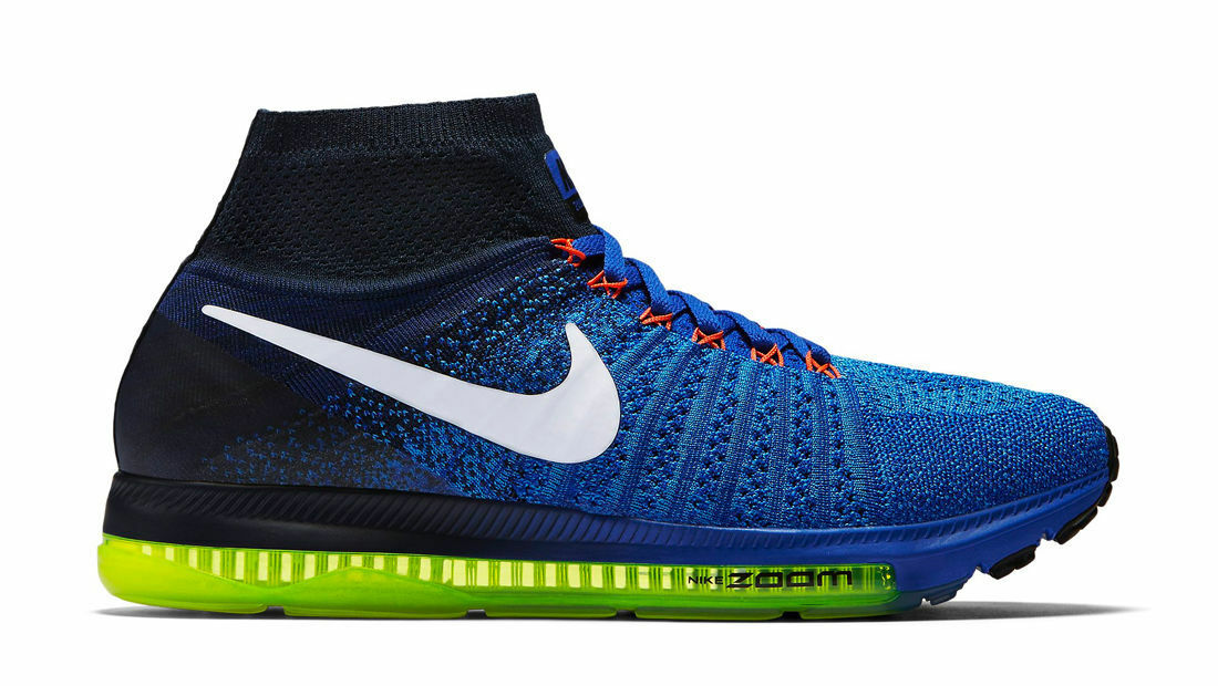 Women's Nike Zoom All Out Flyknit Running Shoe Price reduction BLUE/WHITE/OBSIDIAN