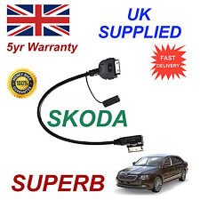 Original Skoda Superb Mmi azo800001 Iphone Ipod 3gs 4 4s Cable De Reemplazo