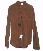 C.p. Company Cpu0369 Men's Shirt Size Xl Made In Italy Brown Paisley $245