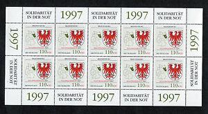 Bund-10-x-1941-postfrisch-KB-Zehnerbogen-Hochwasserhilfe-1997-BRD-10-er-Bogen