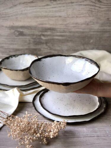 Dinner Plates and Soup Ceramic Dinnerware Set of Dessert Serving-Salad Bowl