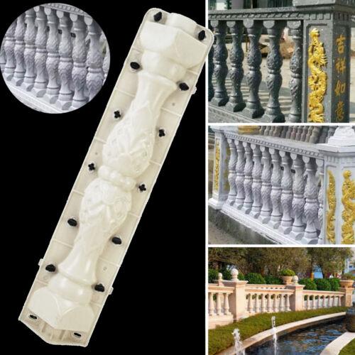 US 2PCS Moulds Balustrades Mold for Concrete Plaster Cement Plastic Casting