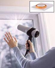 2 X 6 metros cuadrados Doble Acristalamiento Ventana Vidrio Película De Tiro borrador Aislamiento Kit de Windows