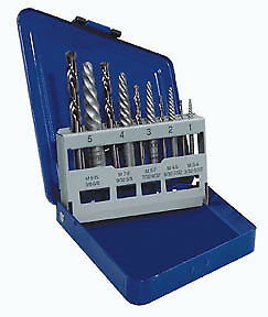 Spiral Extractor and Drill Bit Set in Metal Index 11119 IRWIN HANSON 10 Pc