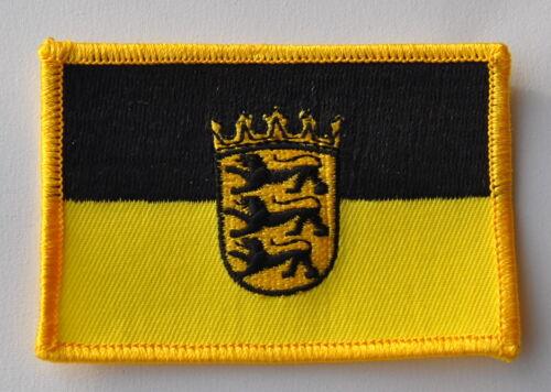 AUFNÄHER PATCH 0264 AUFBÜGLER BADEN WÜRTTEMBERG FAHNE FLAGGE SAMMLER NEU