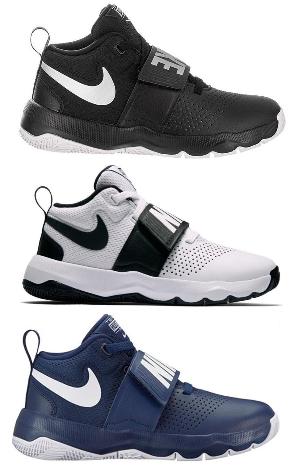 Nike Team Hustle D8 GS skor pojkar herr kvinnor Basketball springaning läder