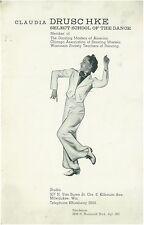 1937 Claudia Drushcke School of the Dance MIlwaukee  Booklet