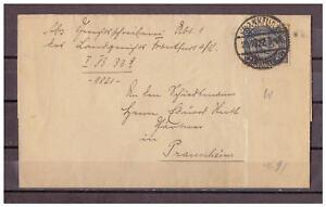 Empire-Allemand-Lettre-Pliee-Minr-32-Francfort-avec-apres-Praunheim-20-10-1922