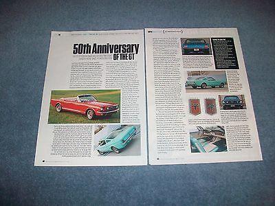 """1965 66 67 68 69 Mustang Gt History Info Artikel """" 50 Jahrestag Der Gt """" Um 50 Prozent Reduziert"""