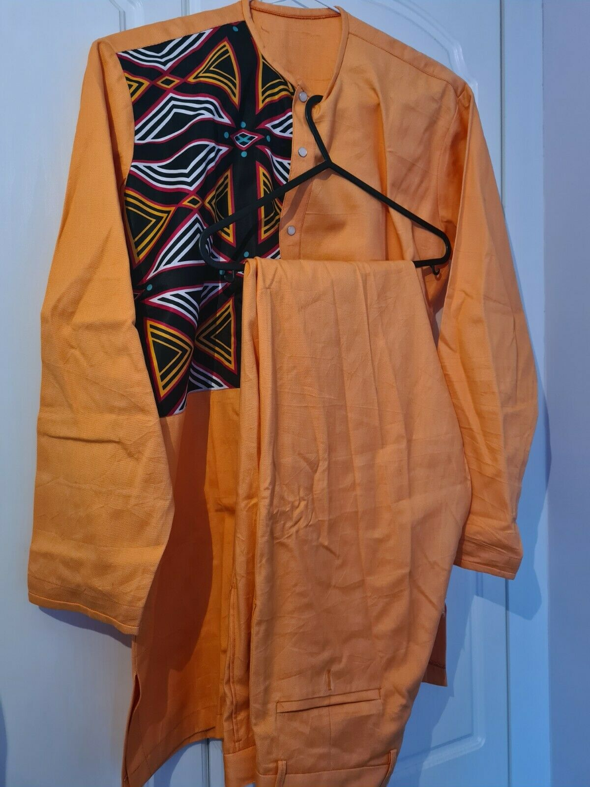 Modern afro mix trouser and top Large size