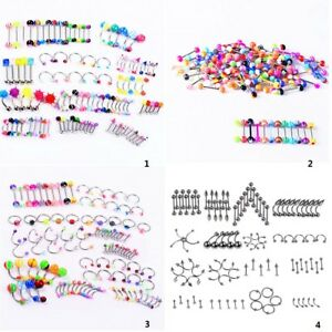 105pcs-Wholesale-Bulk-lots-Eyebrow-Jewelry-Belly-Body-Piercing-Tongue-Bar-Ring