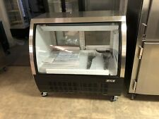 New Refrigerated Gre 36 Deli Case Curved Glass