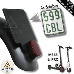 Germany Number Plate Holder Patinete Xiaomi M365 Pro 3d Printed Ebay