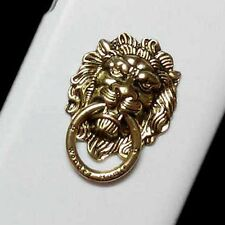 Fashion Bronze Lion Head Finger Ring Holder Stand Hard Back Case Skin for Phones