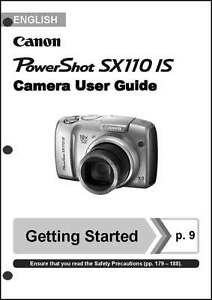 canon powershot sx110 is digital camera user instruction guide rh ebay com Canon A-1 User Manual in Print canon powershot a570is instruction manual