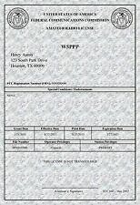 FCC Amateur Radio License Print * Large WHITE MARBLE * 13 x 19