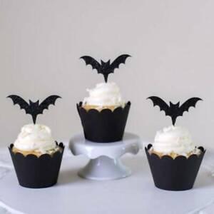 Pleasant Halloween Cupcake Birthday Cake Bunting Party Cake Insertion Decor Personalised Birthday Cards Paralily Jamesorg