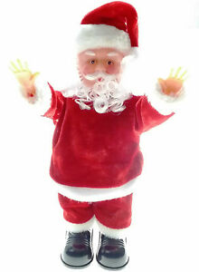 Father Christmas Cartoon Images.Details About Father Christmas Singing Dancing Santa Clause Gift Toy Xmas Animated Novelty
