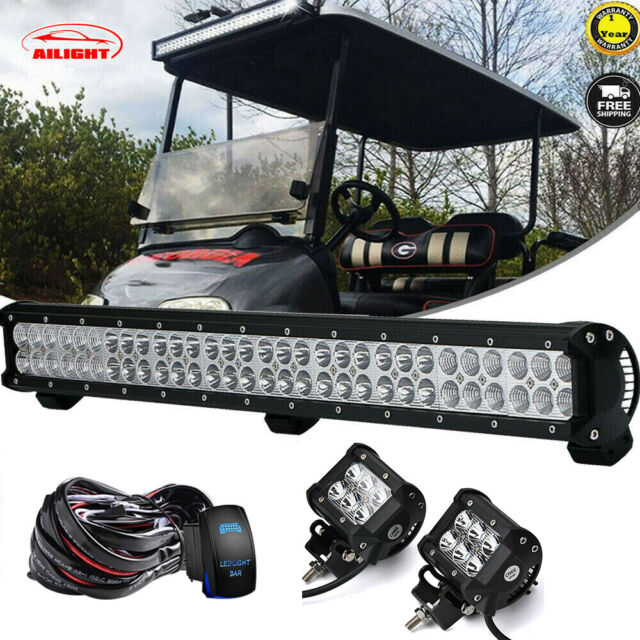 28 Led Light Bar Combo Beam So Bright Fit For E Z Go Rxv Off Road Gas Golf Cart