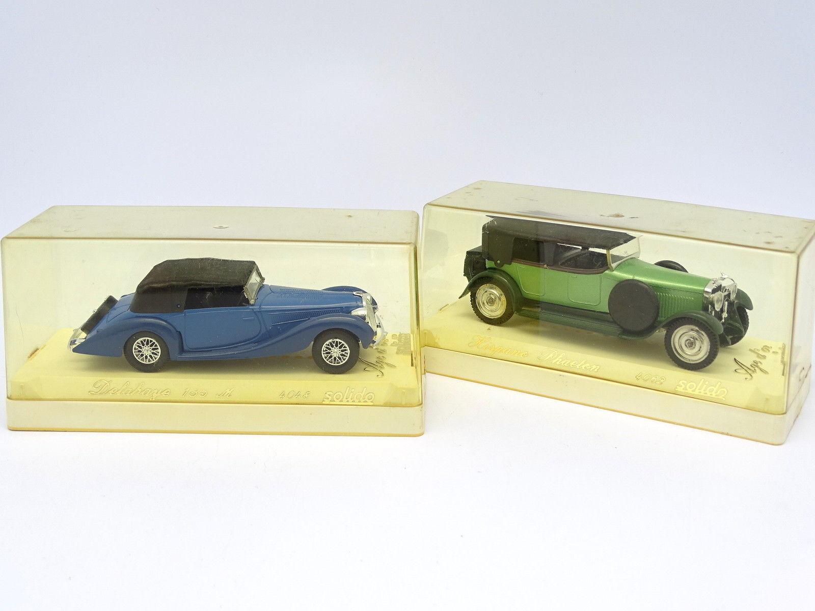 Solido 1 43 - Lote de de de 2   Delahaye y Hispano Suiza e016af