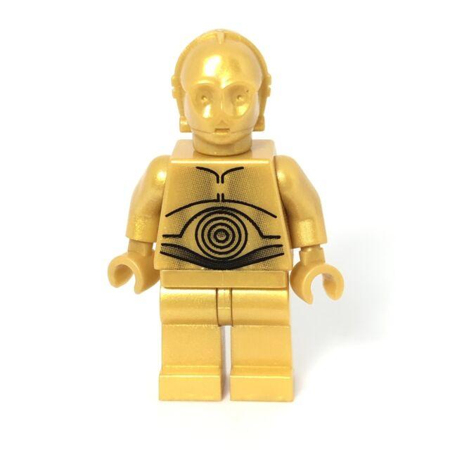 Lego Star Wars Pearl Gold C-3PO Minifigure Death Star 10188 Authentic