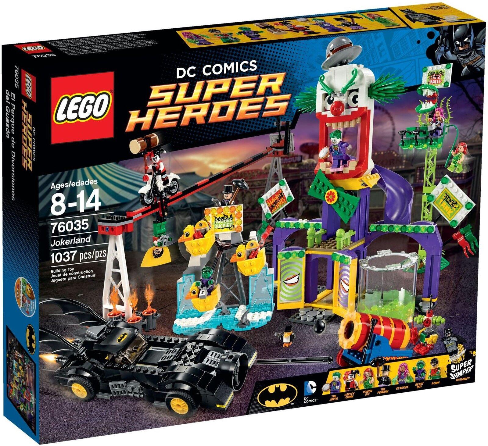 Lego DC Super Heroes - 76035 jokerland m. Joker, pingüino, Poison Ivy-nuevo & OVP