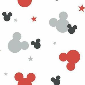 Details About Disney Mickey Mouse Logo On Sure Strip Wallpaper Dy0209