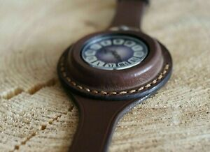 Leather-strap-Antique-WW1-times-Brown-New-For-Pocket-Watch-45mm-WWII