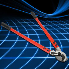 23 High Leverage Cable Cutter Withrubber Grip Tough Wires Steel Rope Cutting Tool