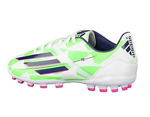 low priced 3dfb9 99668 Das Bild wird geladen Adidas-Fussballschuhe-F10-AG-J-EUR-38-Kunstrasen-