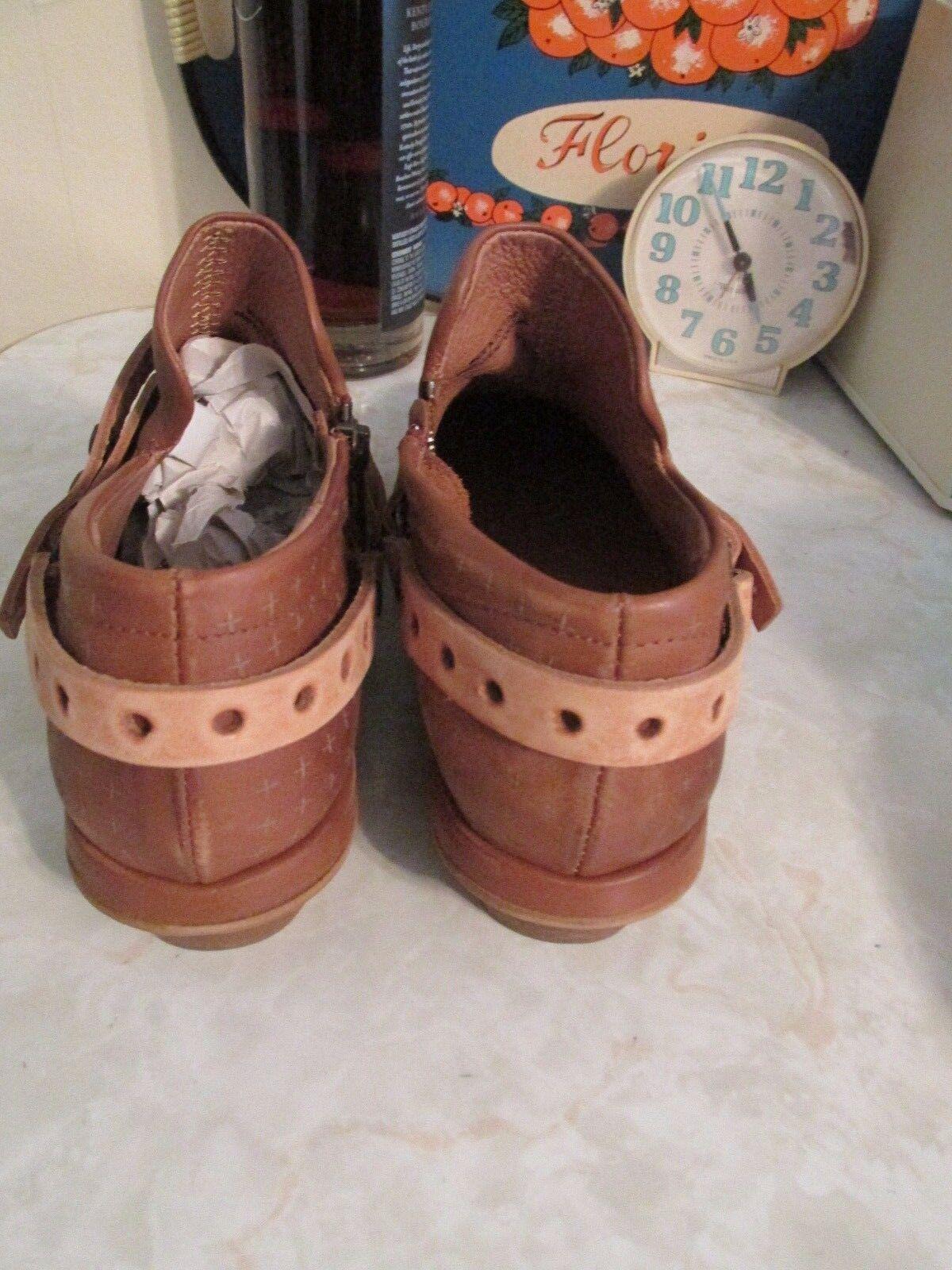 Free People Tan Leather Vicente View Ankle Stiefel Shooties Shooties Shooties EU 38 US 7.5 8 62ac99