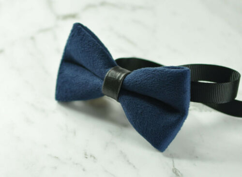 Baby Kids Boy Navy Blue Velvet Bowtie Bow Tie 1 to 6 Years Old Wedding Party