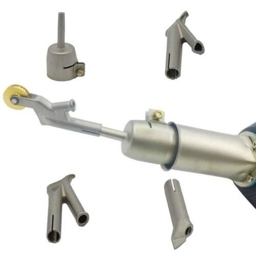 5pcs Speed Welding Nozzles Vinyl Pvc Plastic Hot Air Gun 5mm Tip Triangular Set