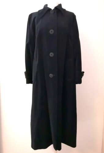 16 Velvet Heavy Cotton New Coat Look Black Vintage Opera Evening Weight 44 BxOFBzw