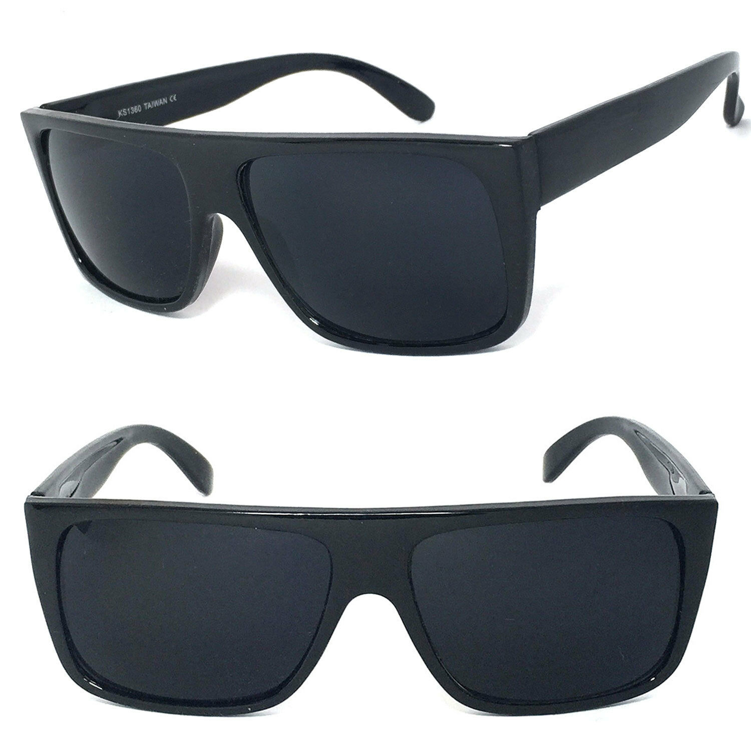 91c5733b9c4 Details about Classic Old School Eazy E Flat GANGSTER CHOLO Sunglasses  Super Dark UV Protect
