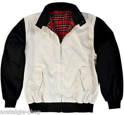 James Dean Jacke,Harrington Jacke,Rockabilly,schwarz/beige 50er College Style oi