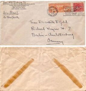Air Mail Letter fm USA to Germany, Air Mail adv.cc,1936 | eBay