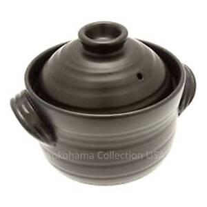 Japanese BANKO YAKI 2-Go GOHAN Rice Cooker Donabe Ceramic