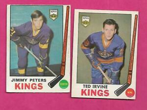 1969-70-OPC-LA-KINGS-TED-IRVINE-JIMMY-PETERS-RC-CARD-INV-C3630