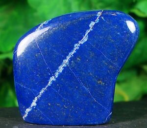 LAPIS LAZULI HAND POLISHED CRYSTAL MINERAL SPECIMEN 230 GRAMS FROM AFGHANISTAN