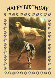 GORDON SETTER AND POINTER CHARMING DOG GREETINGS NOTE CARD TWO BEAUTIFUL DOGS