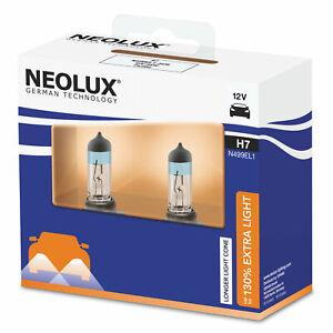 H7-Extra-Light-130-mehr-Licht-2st-Abblendlicht-Fernlicht-Neolux-by-OSRAM