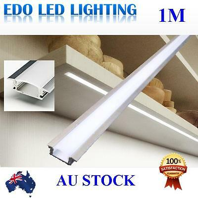 1M Edge Alloy channel Aluminium bar for Led Strip Light Cabinet Kitchen Bathroom