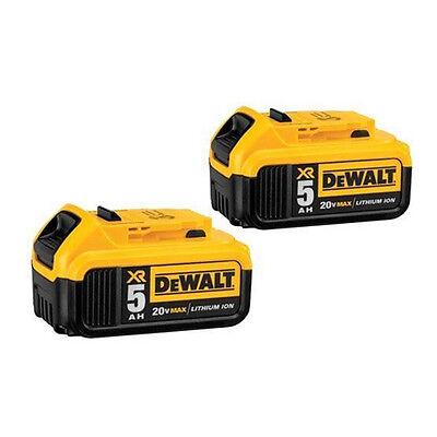 DEWALT DCB205 20V MAX Premium XR 5.0 Ah Li-Ion Battery (2 Pack)