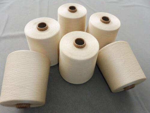 5,4 kg 6 Rouleaux webgarn 100/% coton Compact gasiert